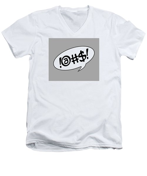 Text Bubble Men's V-Neck T-Shirt