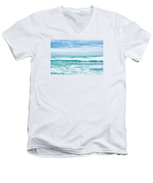 Textures In The Waves Men's V-Neck T-Shirt by Shelby  Young