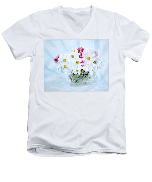 Thank You. Thank You - Je Vous Remerci Collection Of 2 Paintings Men's V-Neck T-Shirt