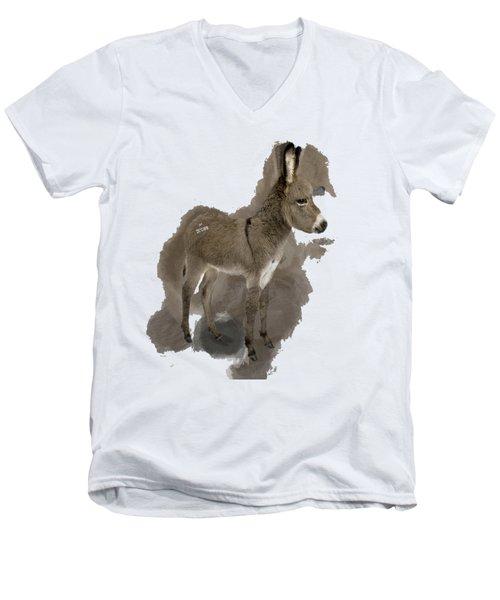 That Cute Donkey Foal In Profile Men's V-Neck T-Shirt