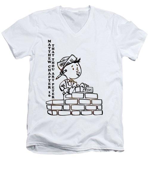 That Thou Art Peter Matthew Chapter 16 Men's V-Neck T-Shirt