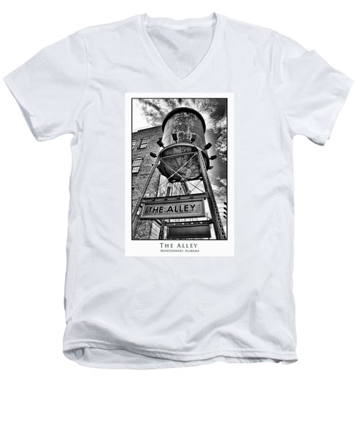 Men's V-Neck T-Shirt featuring the digital art The Alley  by Greg Sharpe