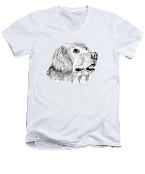 The Amanda Look Men's V-Neck T-Shirt by John Stuart Webbstock