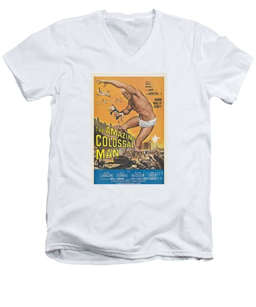 The Amazing Colossal Man Movie Poster Men's V-Neck T-Shirt