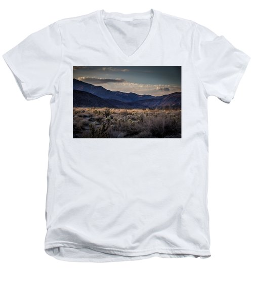 Men's V-Neck T-Shirt featuring the photograph The American West by Peter Tellone