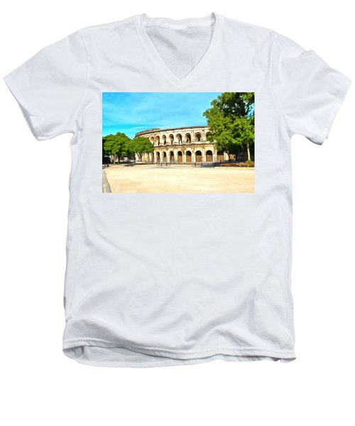 The Amphitheatre Nimes Men's V-Neck T-Shirt