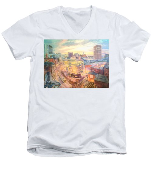 The Arndale Carpark, Manchester Men's V-Neck T-Shirt