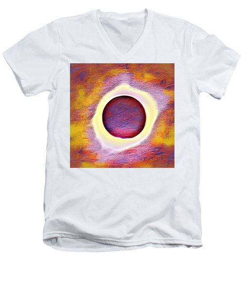 The Aura Of The Eclipse Men's V-Neck T-Shirt