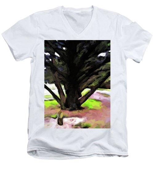 The Avenue Of Trees 1 Men's V-Neck T-Shirt