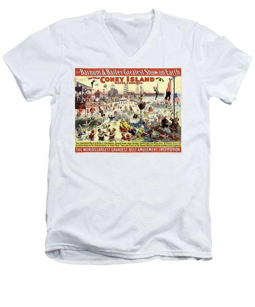 The Barnum And Bailey Greatest Show On Earth The Great Coney Island Water Carnival Men's V-Neck T-Shirt