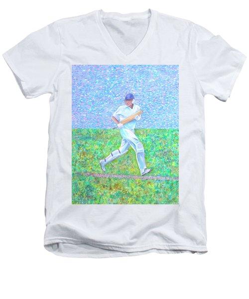 The Batsman Men's V-Neck T-Shirt