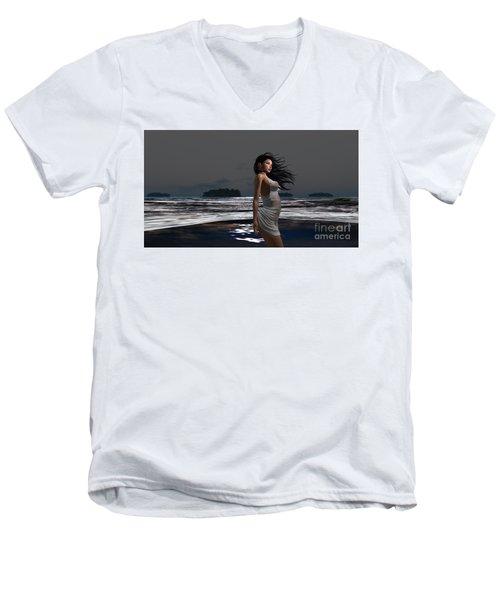 The Beach 3 Men's V-Neck T-Shirt