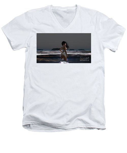 The Beach 4 Men's V-Neck T-Shirt