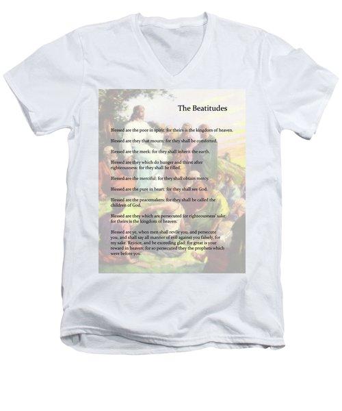 The Beatitudes Men's V-Neck T-Shirt
