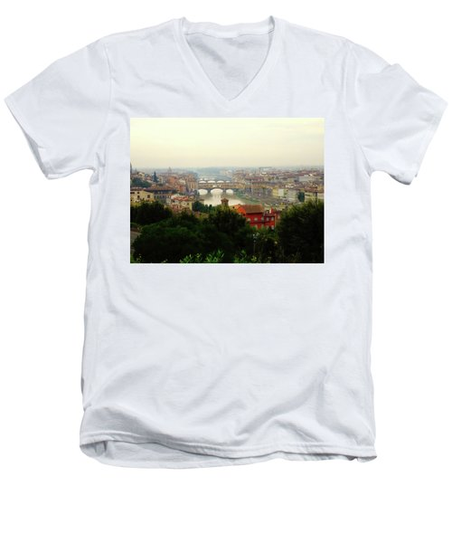 Men's V-Neck T-Shirt featuring the photograph The Beauty Of Florence  by Alan Lakin