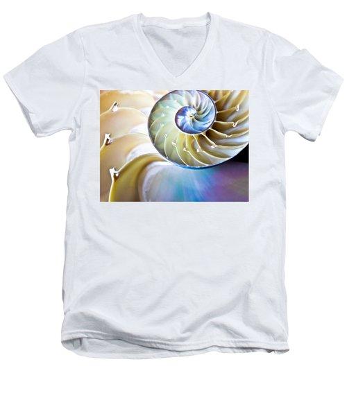 The Beauty Of Nautilus Men's V-Neck T-Shirt