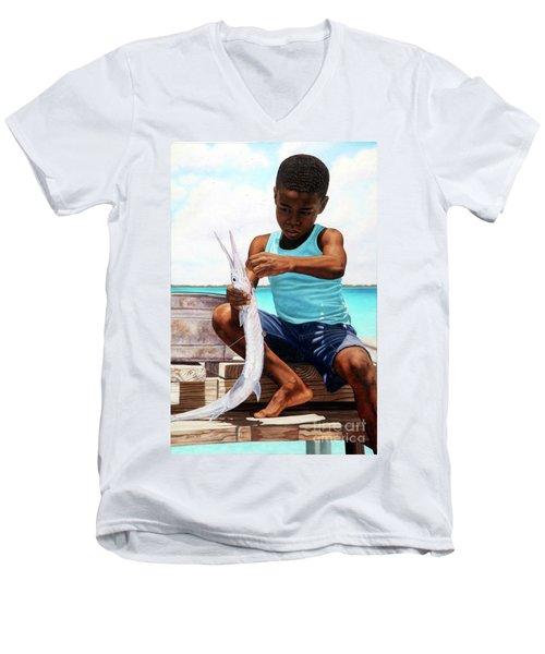 The Big Catch Men's V-Neck T-Shirt