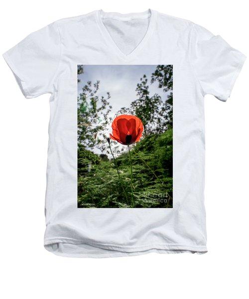 The Big Red 02 Men's V-Neck T-Shirt