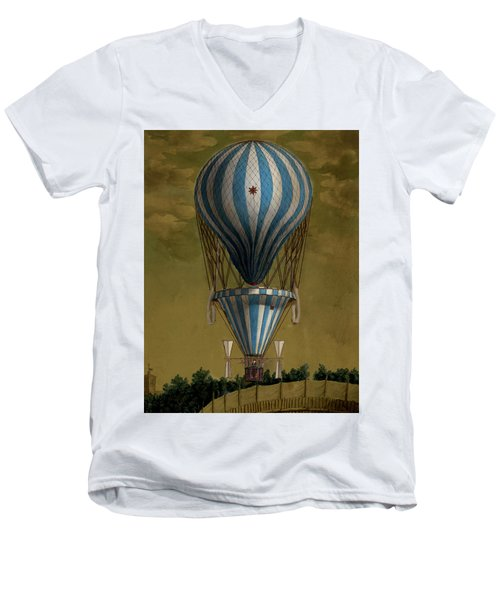 The Blue Balloon Men's V-Neck T-Shirt