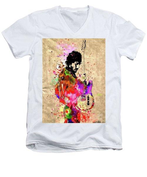 The Boss Grunge Men's V-Neck T-Shirt