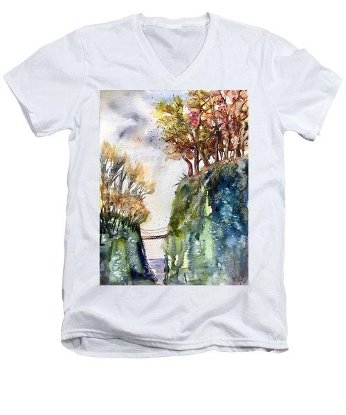 The Bridge Between Two Worlds Men's V-Neck T-Shirt