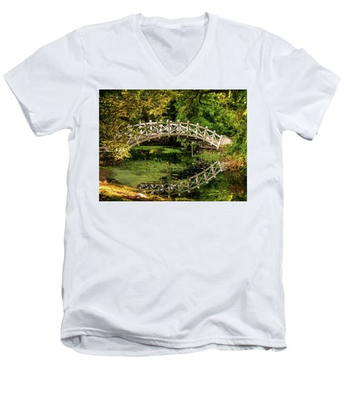 The Bridge Men's V-Neck T-Shirt by Martina Thompson