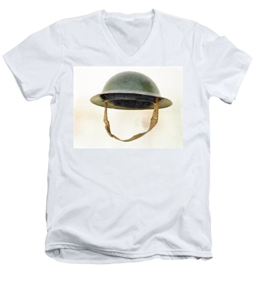 The British Brodie Helmet  Men's V-Neck T-Shirt