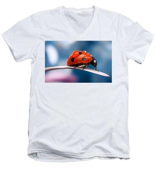 The Bug Men's V-Neck T-Shirt by Thomas M Pikolin