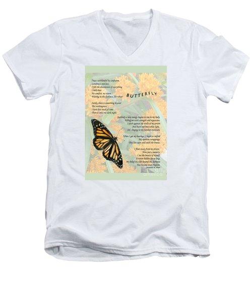 The Butterfly Men's V-Neck T-Shirt