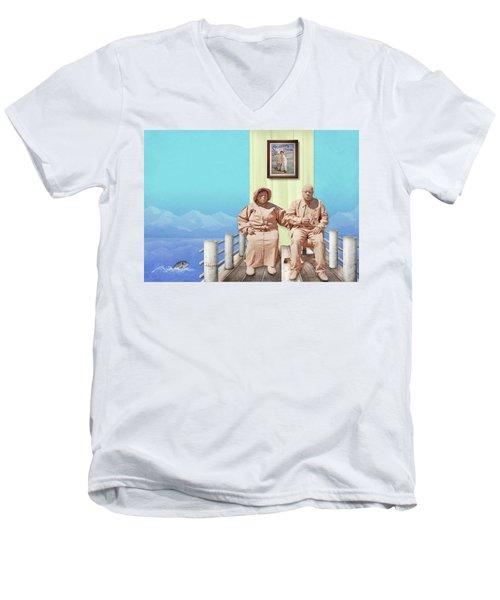 The Cadburys On Vacation Men's V-Neck T-Shirt