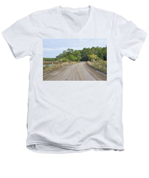 The Causway On Chisolm Island Men's V-Neck T-Shirt