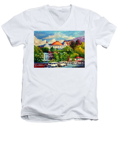 The Central Taxi Terminal In Jayapura Men's V-Neck T-Shirt