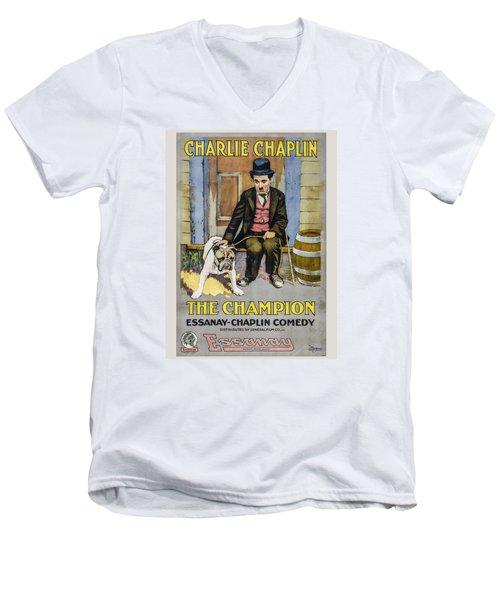 The Champion Chaplin Comedy Men's V-Neck T-Shirt