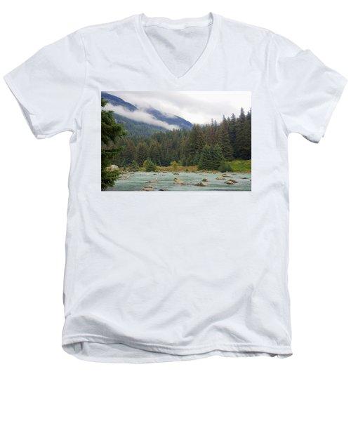 The Chillkoot River 2 Men's V-Neck T-Shirt