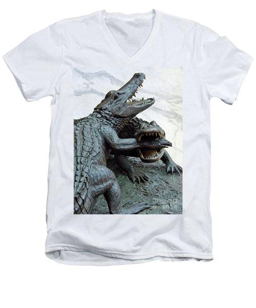 The Chomp Men's V-Neck T-Shirt by D Hackett