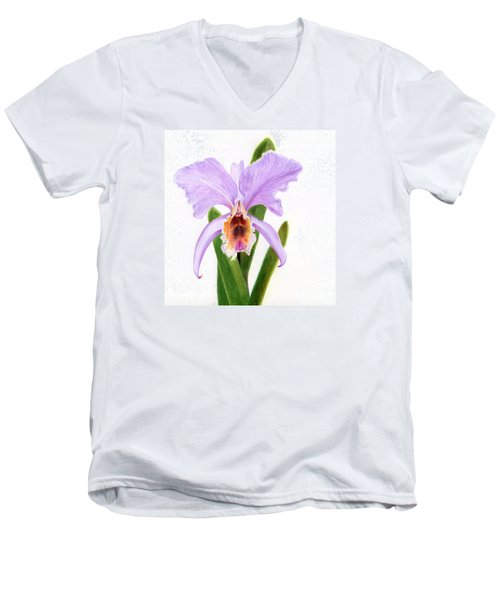 The Christmas Orchid Men's V-Neck T-Shirt