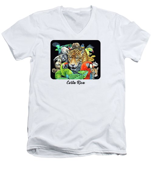 The Circle Of Life Men's V-Neck T-Shirt by Nathan Miller