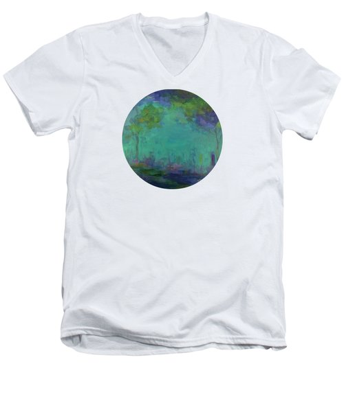 The City In The Distance Men's V-Neck T-Shirt by Mary Wolf