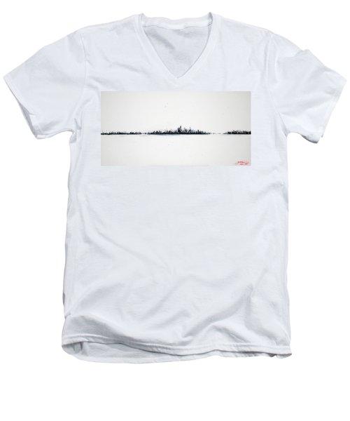 The City New York Men's V-Neck T-Shirt