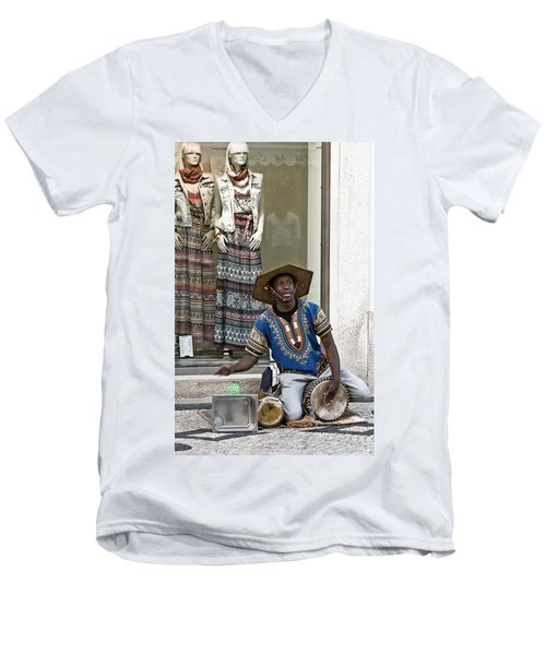 The Color Of Street Music Men's V-Neck T-Shirt