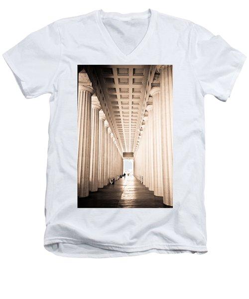 The Columns At Soldier Field Men's V-Neck T-Shirt
