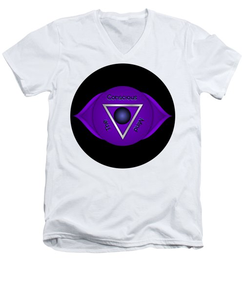 Third Eye Brow Chakra Art Print Inspirational Quote Prints  Men's V-Neck T-Shirt