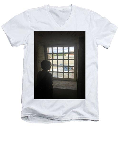 The Contrast Of War Men's V-Neck T-Shirt