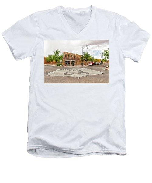 The Corner In Winslow Men's V-Neck T-Shirt