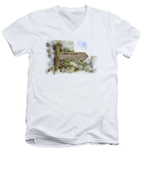 The Cornish Way On Transparent Background Men's V-Neck T-Shirt by Terri Waters