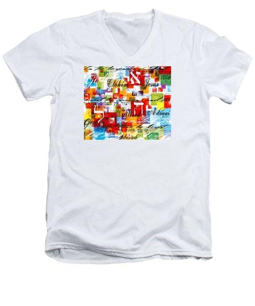 The Creator Men's V-Neck T-Shirt by Gary Bodnar