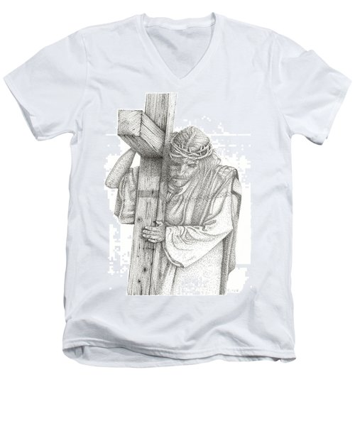 The Cross Men's V-Neck T-Shirt