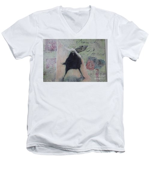 The Crow Called The Raven Black Men's V-Neck T-Shirt
