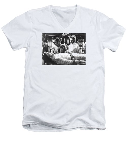 The Curse Of Frankenstein 1957 Baron Victor Frankenstein Men's V-Neck T-Shirt
