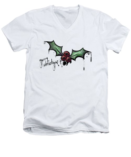 The Cutest Little Creepmas Men's V-Neck T-Shirt by Lizzy Love